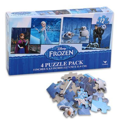 Disney Frozen - Four (4) Puzzle Pack - Disney Puzzle