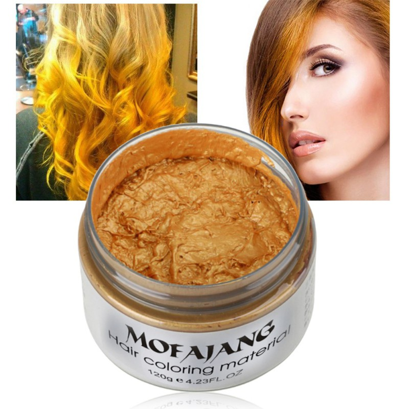 Unisex DIY Hair Color Wax Mud Dye Cream Temporary Modeling 7 Colors