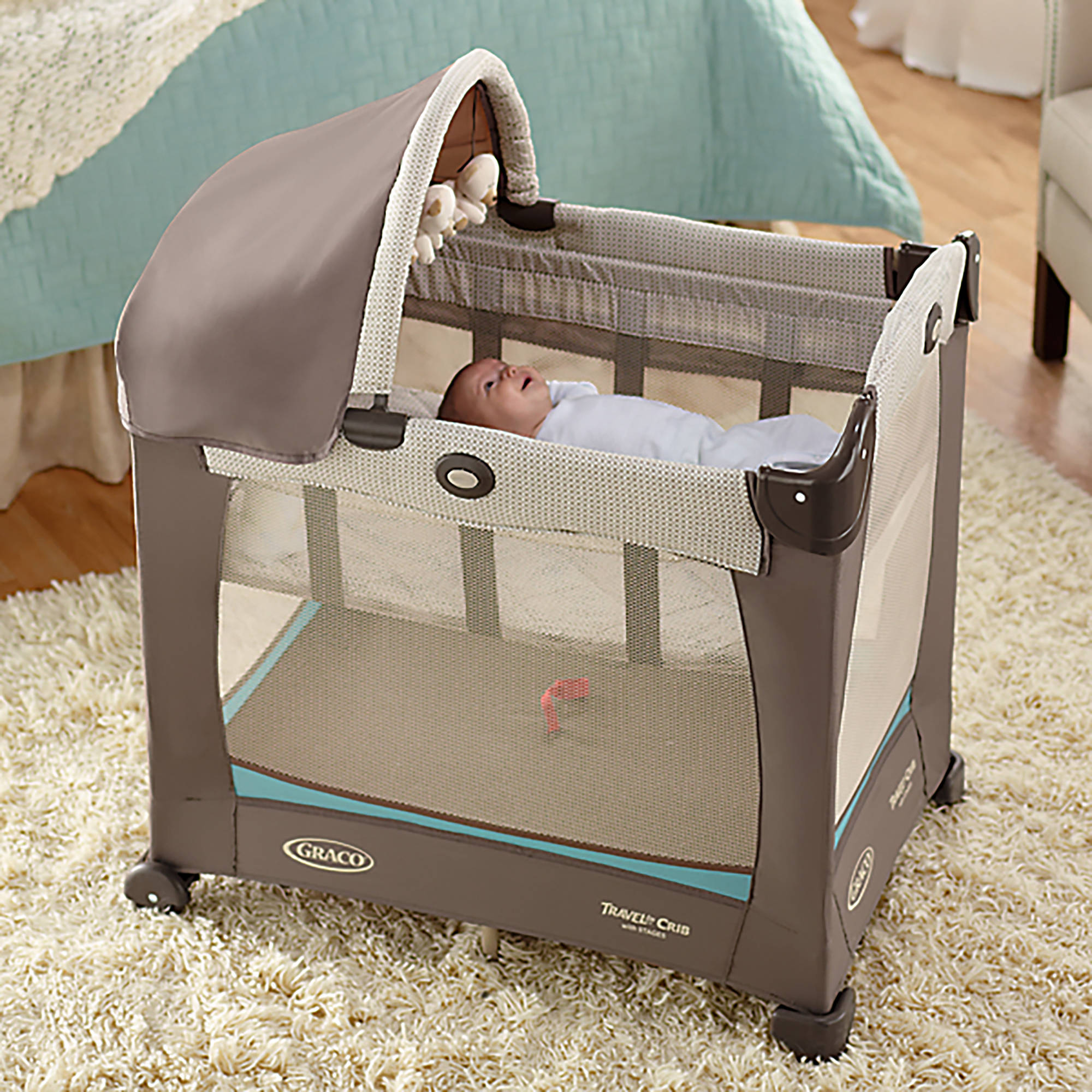Graco Travel Lite Portable Crib, Winslet   Walmart.com