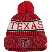 Texas Tech Red Raiders New Era Youth Sport Knit Hat with Pom - Red - OSFA