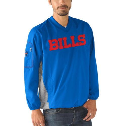 Men's G-III Sports by Carl Banks Royal Buffalo Bills Gridiron V-Neck Pullover Sweatshirt