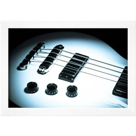 Bass Guitar Framed Print Wall Art By Alexandru Nika