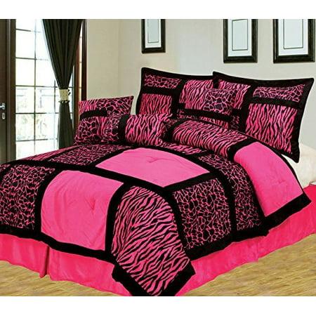 (Empire Home Safari 7-Piece Hot Pink Queen Size Comforter set ON SALE!)