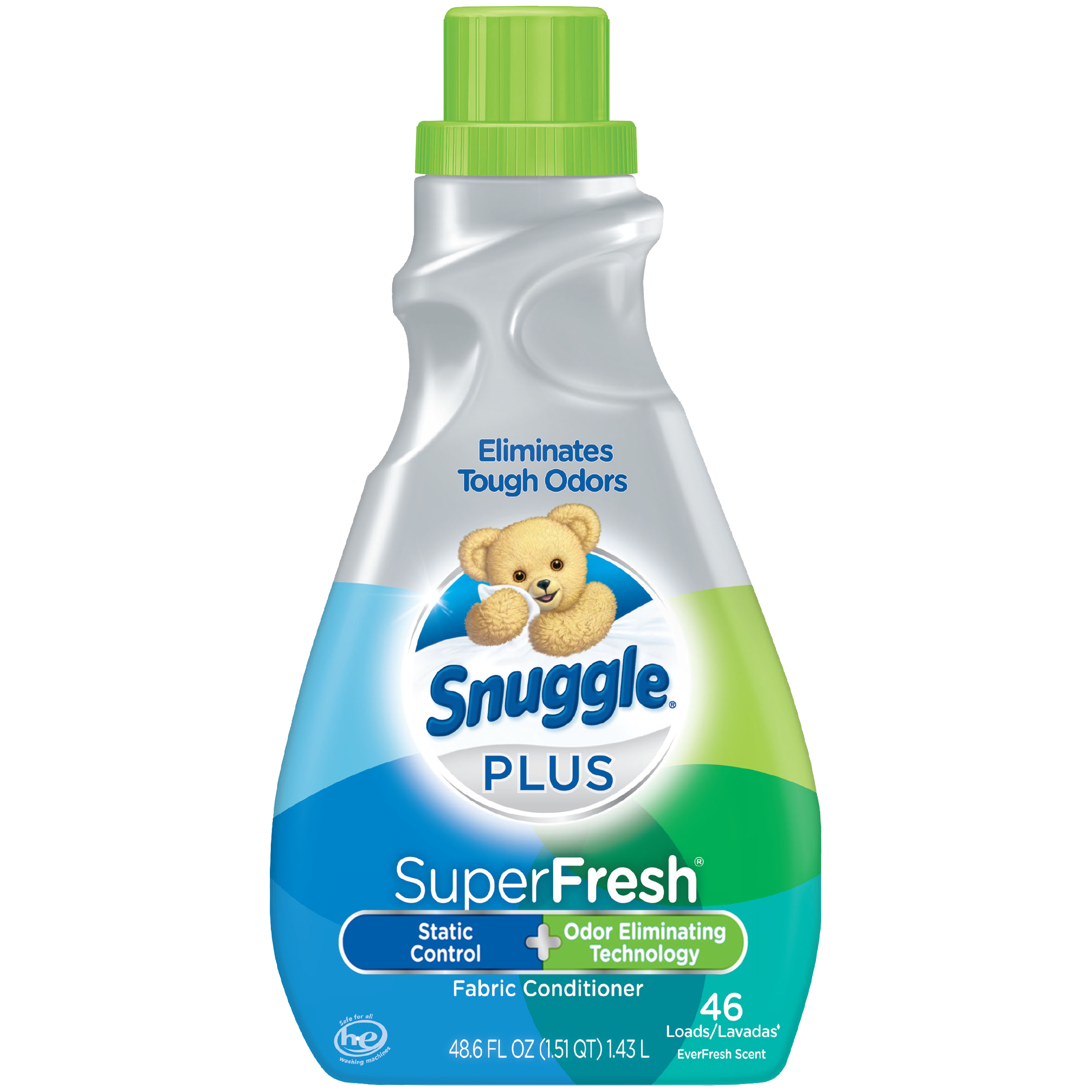 Snuggle Plus Super Fresh Liquid Fabric Softener with Odor Eliminating Technology, Original, 48.6 Fluid Ounces, 46 Loads