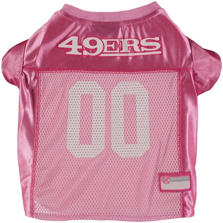 San Francisco 49ers Mesh Dog Jersey - Pink