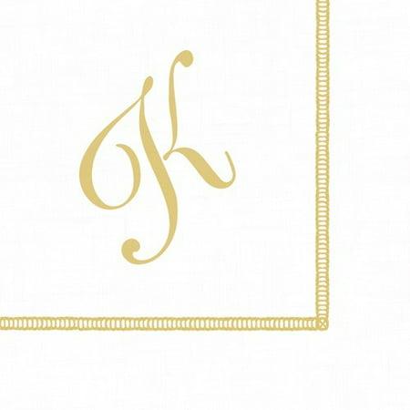 Monogram Initial K Paper Cocktail Napkins 20pk