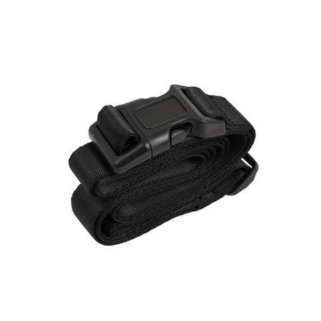 Bucket Strap - Unique Bargains Quick Release Buckle Luggage Suitcase Backpack Baggage Belt Strap Black 2Mx25mm