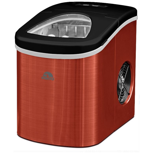 Igloo Ice Maker Red Stainless Steel - Produces 26 lbs. ICE117-SSRED - Manufacturer Refurbished