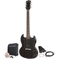 Maestro by Gibson Double Cutaway Electric Guitar Kit (Black)