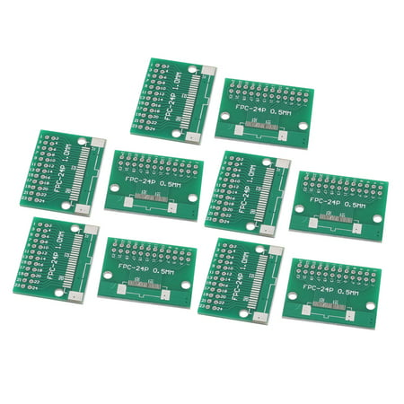 - 10Pcs FPC-24P Multiple Pitch 0.5mm/1.0mm TFT LCD Test FPC Adapter Board Green