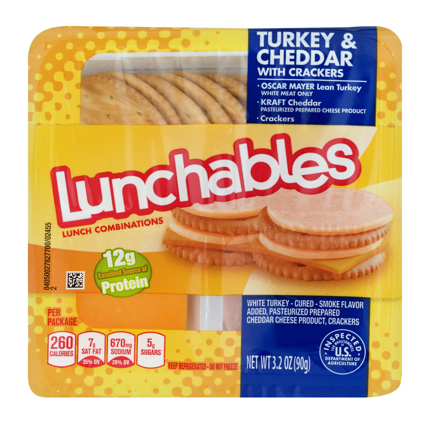 Lunchables Turkey & Cheddar Cheese with Crackers Lunchables, 4.50 oz