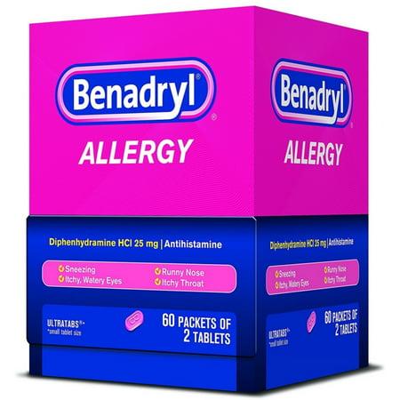 4 Pack - Benadryl Allergy Ultratab Packet Dispensers 60 ea