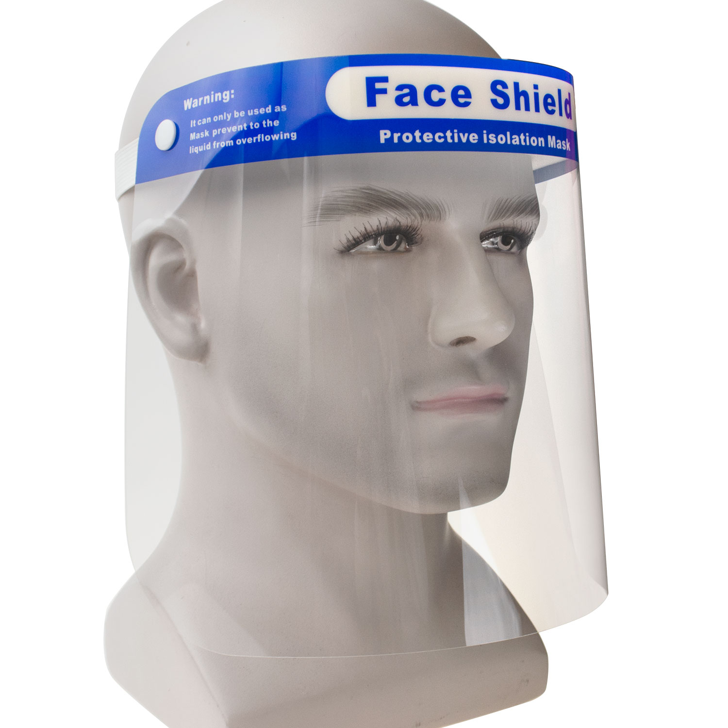 Easy Wear Protective Film MUST Be Peeled Off Transparent Plastic Face Visor Adjustable Resistant to Prevent Splashes Face Protective Shield Visor with Glasses Aspect 1 Pk