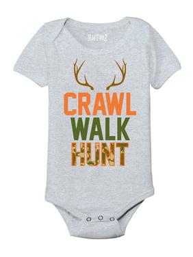 Crawl Walk Hunt, Camo Fill  - Infant One Piece