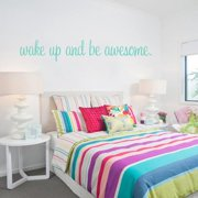 Sweetums Wake Up And Be Awesome 22-inch x 4-inch Bedroom Wall Decal