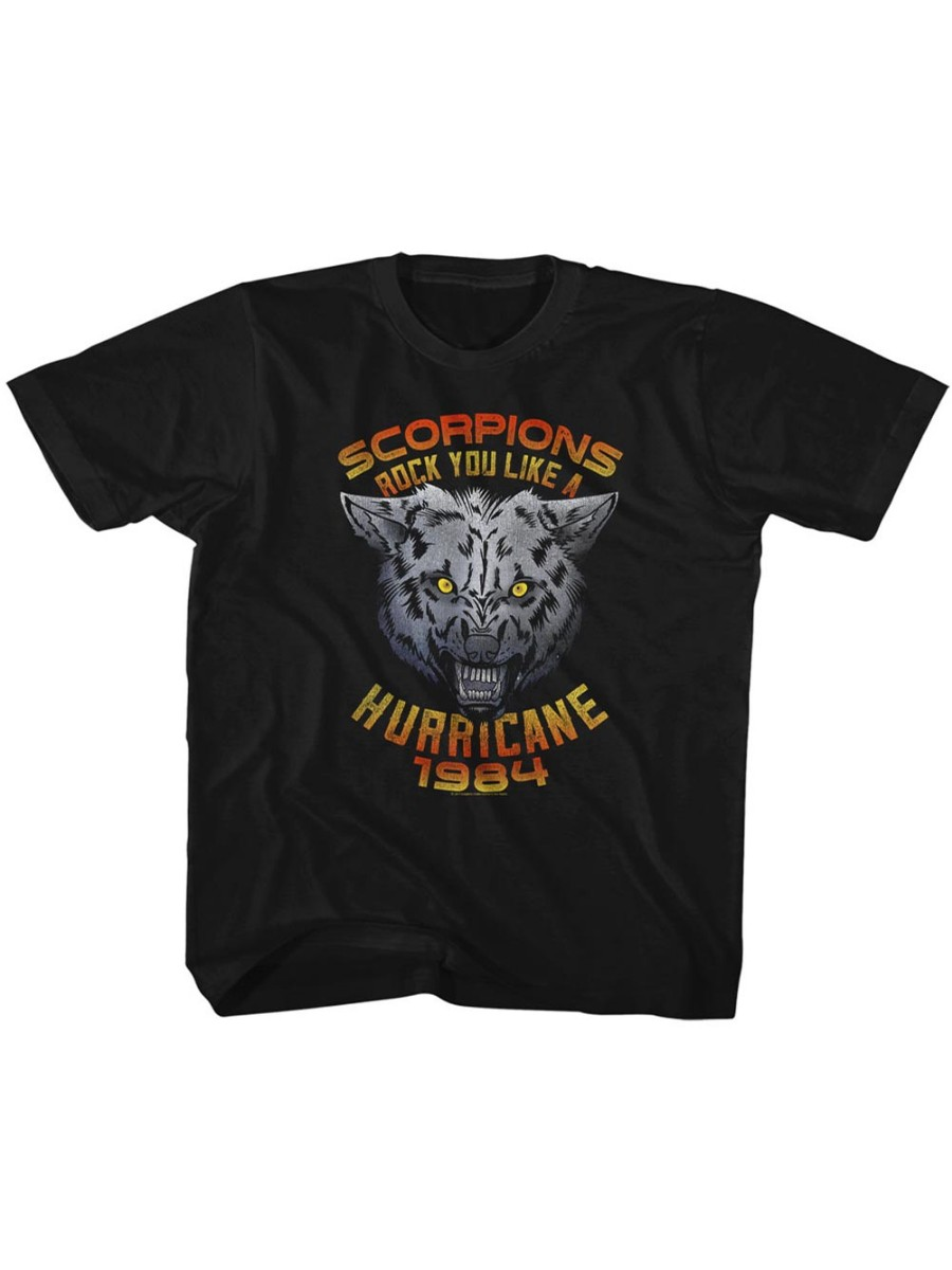 Scorpions German Rock Band Wolf Black Toddler Little Boys T-Shirt Tee