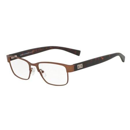 Exchange Armani 0AX1020 Semi Rim Square Unisex Eyeglasses - Size - 54 (Matte (Armani Eyeglasses)