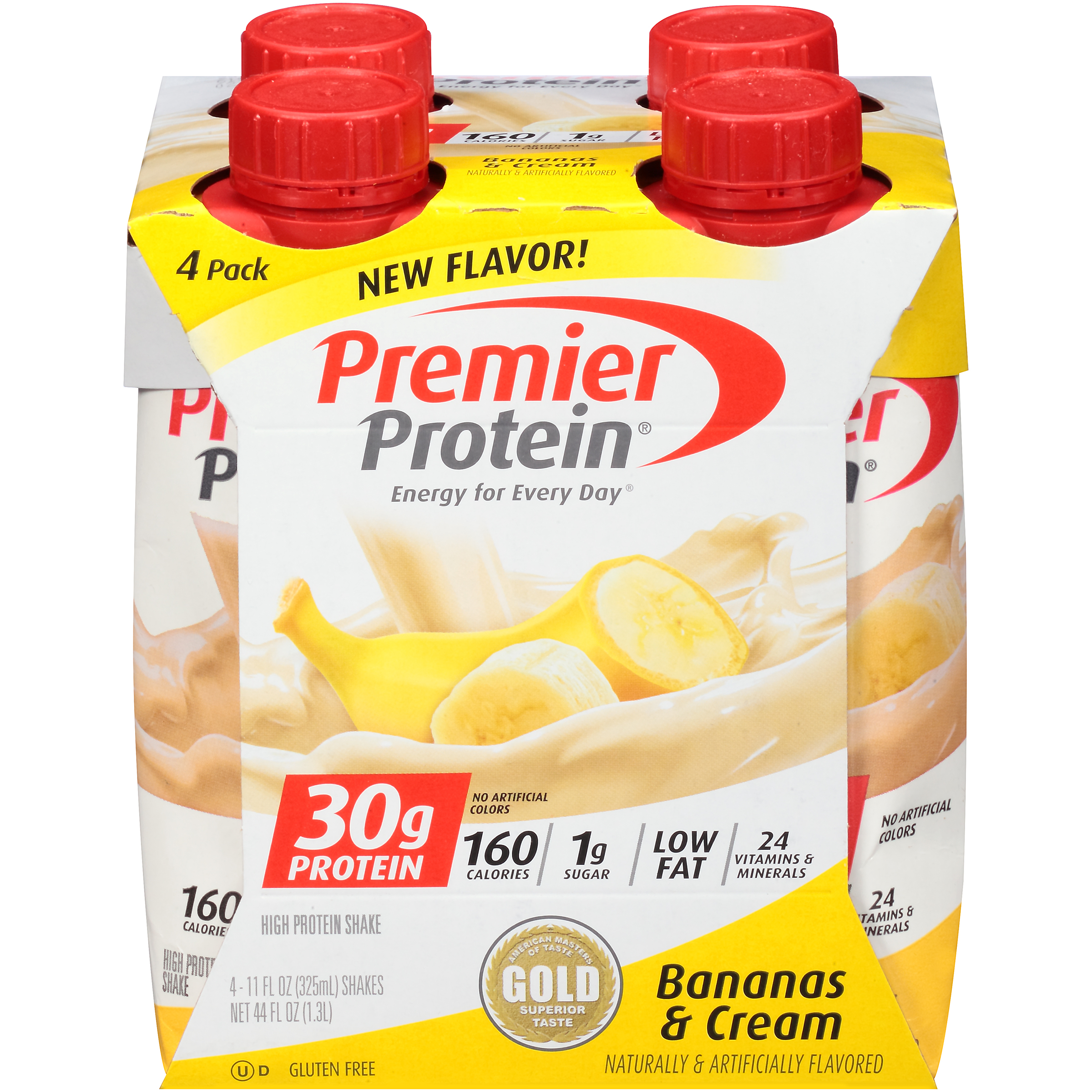 Premier Protein Shake 30 Grams Of Bananas Cream 11 Oz 4 Ct