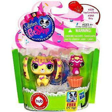 Littlest Pet Shop Lop Eared Bunny & Kitty Friend Figure 2-Pack