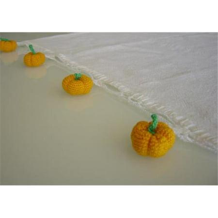 - RSC TTT-019 Hand Crocheted Pumpkin Tea Towel