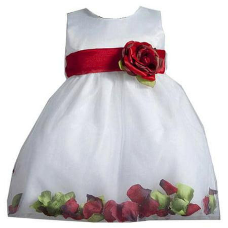 Baby Girls White Red Petal Flower Girl Dress 12M](Crayon Dress)