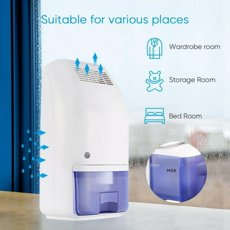 Qiilu Dehumidifier,700Ml Large Tank Compact Small Auto Min Dehumidifier Up To 215 Square Feet Per Day Ultra Quiet Lightweight Portable Dehumidifier For Small Rooms