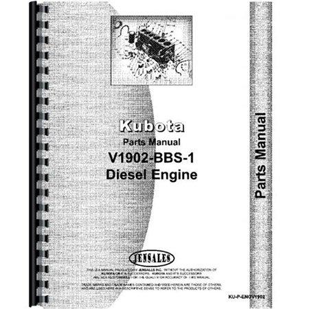 Kubota Kubota Engine V1902 Bbs 1 Parts Manual Walmart
