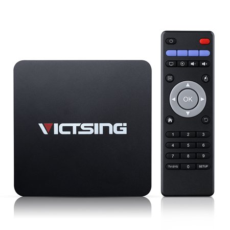 Victsing Quad-core TV Box, Android 5.1, [1G+8G+2K x 4K] Streaming Media, 64 ARM, Bluetooth 4.0, Support WiFi, DLNA, OTA, H.265, HDMI 2.0