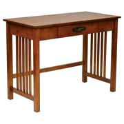 Sierra Writing Desk with Pull out Drawer and Solid Wood Legs, Ash Finish