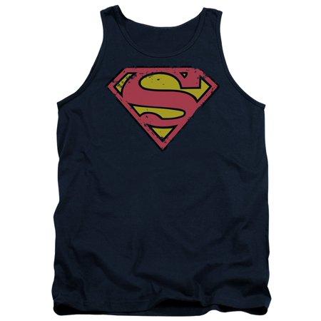 Superman DC Comics Distressed Shield Adult Tank Top - Comics Adult