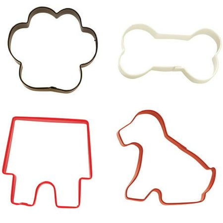 Cow Cookie Cutter - Wilton Pet Cookie Cutter Set, 4-piece