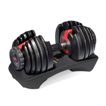 Bowflex SelectTech 552 Adjustable Dumbbell with Free SelectTech App & Space Saving (single)