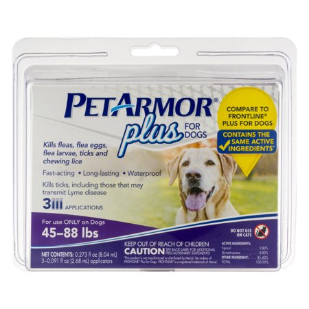 Petarmor Plus Flea And Tick Treatment For Medium Dogs  3 Monthly Doses