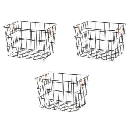 Basket Server - Better Homes & Gardens Large Rectangle Wire Orb Baskets, Set of 3