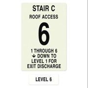 INTERSIGN NFPA-PVC1812(C1A6) NFPASgn,Stair Id C,Floors Served 1 to 6 G0263247