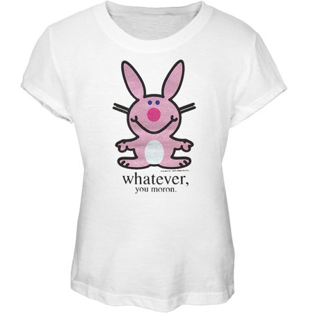 Happy Bunny - Moron Girls Youth T-Shirt (Thumpers Girl Bunny)
