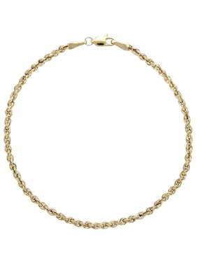 Brilliance Fine Jewelry 10kt Yellow Gold 2.5mm Glitter Rope Bracelet