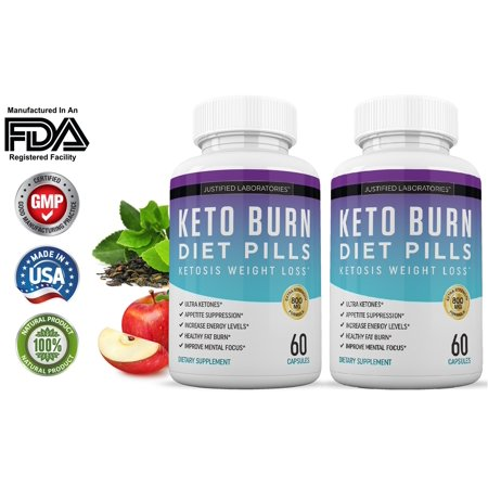 Keto Diet Pills Burn Shred BHB Salts Advanced Ketogenic Supplement Exogenous Ketones Ketosis Weight Loss Fat Burner Fast Carb Blocker 60 Day Supply ()