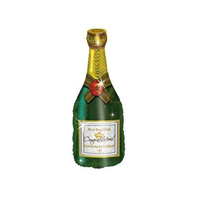 Champagne Bottle Metallic 36 Balloon (Champagne Colored Balloons)