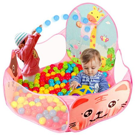 "47""x47"" 2 Colors Foldable Kid Children Baby Ocean Ball Pit Pool Outdoor Indoor Play Toy Tent with Basket (Ball Not Included)"