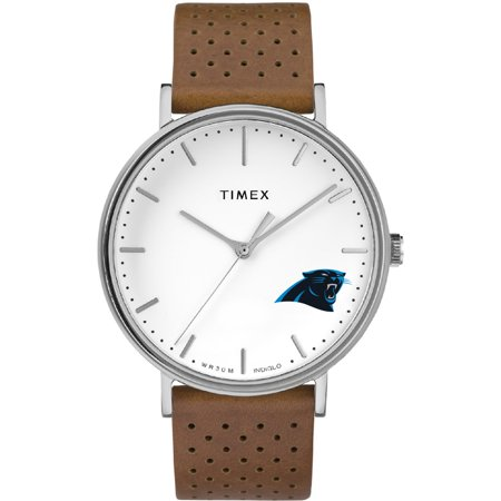 Carolina Panthers Timex Bright Whites Tribute Collection Watch - No Size Carolina Panthers Leather