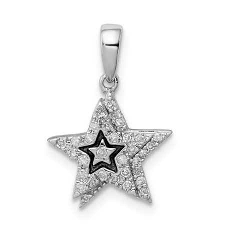 925 Sterling Silver Diamond Star Pendant Charm Necklace Fine Jewelry Gifts For Women For Her - image 6 de 6