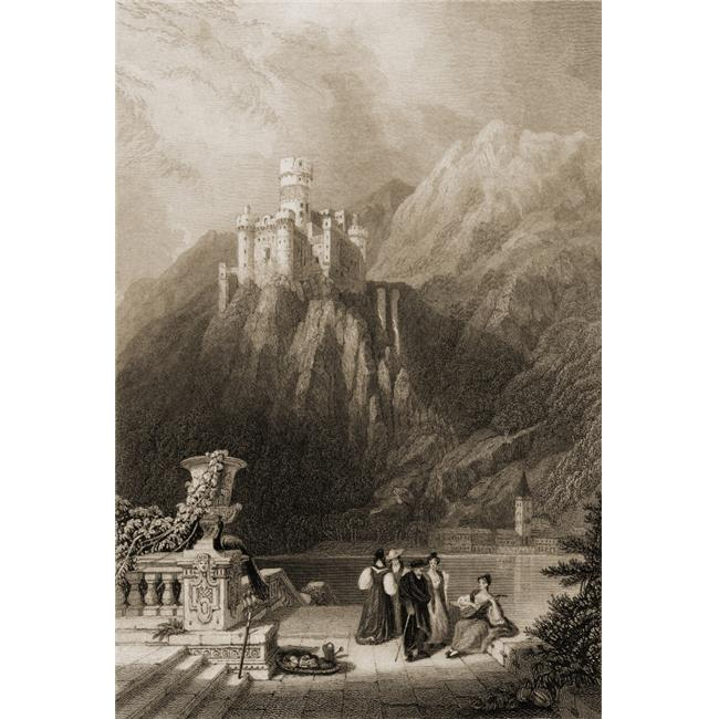 Posterazzi DPI1857579LARGE Thurnberg Castle Aka Burg Maus Germany Built 1356 Engraved by JT Willmore From A 19th Century by D Roberts Poster Print, Large - 24 x 36 - image 1 of 1