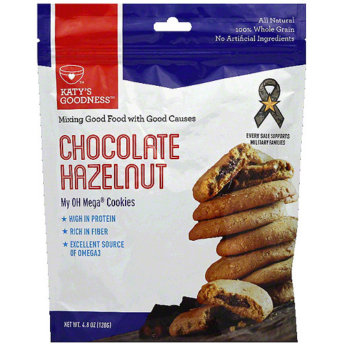 Katy's Goodness My OH Mega Chocolate Hazelnut Cookies, 4.8 oz (Pack of 6)