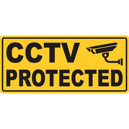 10in X 4.5in CCTV Protected Magnet Signs Vinyl Magnetic Door Sign Magnets