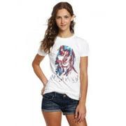FEA Juniors Madonna Graphic Tissue Tee, White, Medium