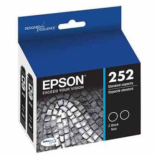 Epson T252 DURABrite Black Dual Pack Cartridge by Epson