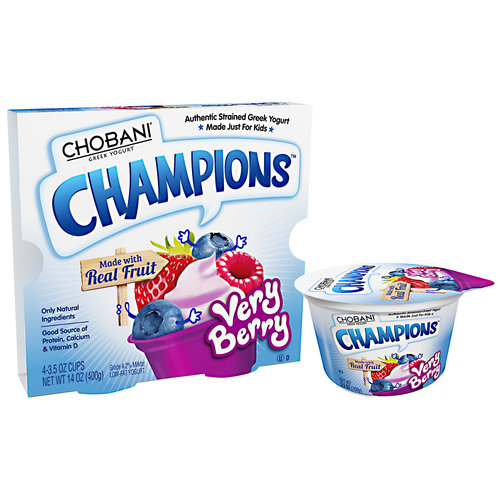 Chobani Champions Very Berry Low-Fat Yogurt, 14 oz