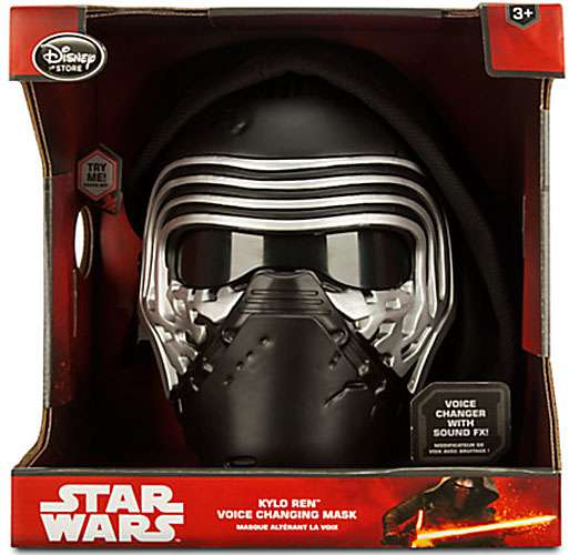 Star Wars The Force Awakens Kylo Ren Voice Changing Mask Exclusive Roleplay Toy - Voice Changing