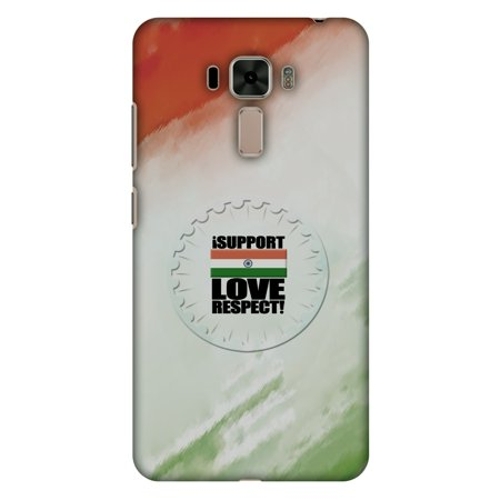 Asus Zenfone 3 Laser Zc551kl Case   I Support Love India  Hard Plastic Back Cover  Slim Profile Cute Printed Designer Snap On Case With Screen Cleaning Kit